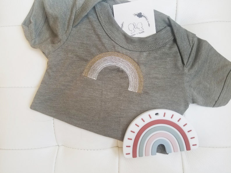 1b09a7dfeace3 RAINBOW EMBROIDERY bodysuit or shirt~rainbow baby apparel~ bloom  onesie~rainbow onesie
