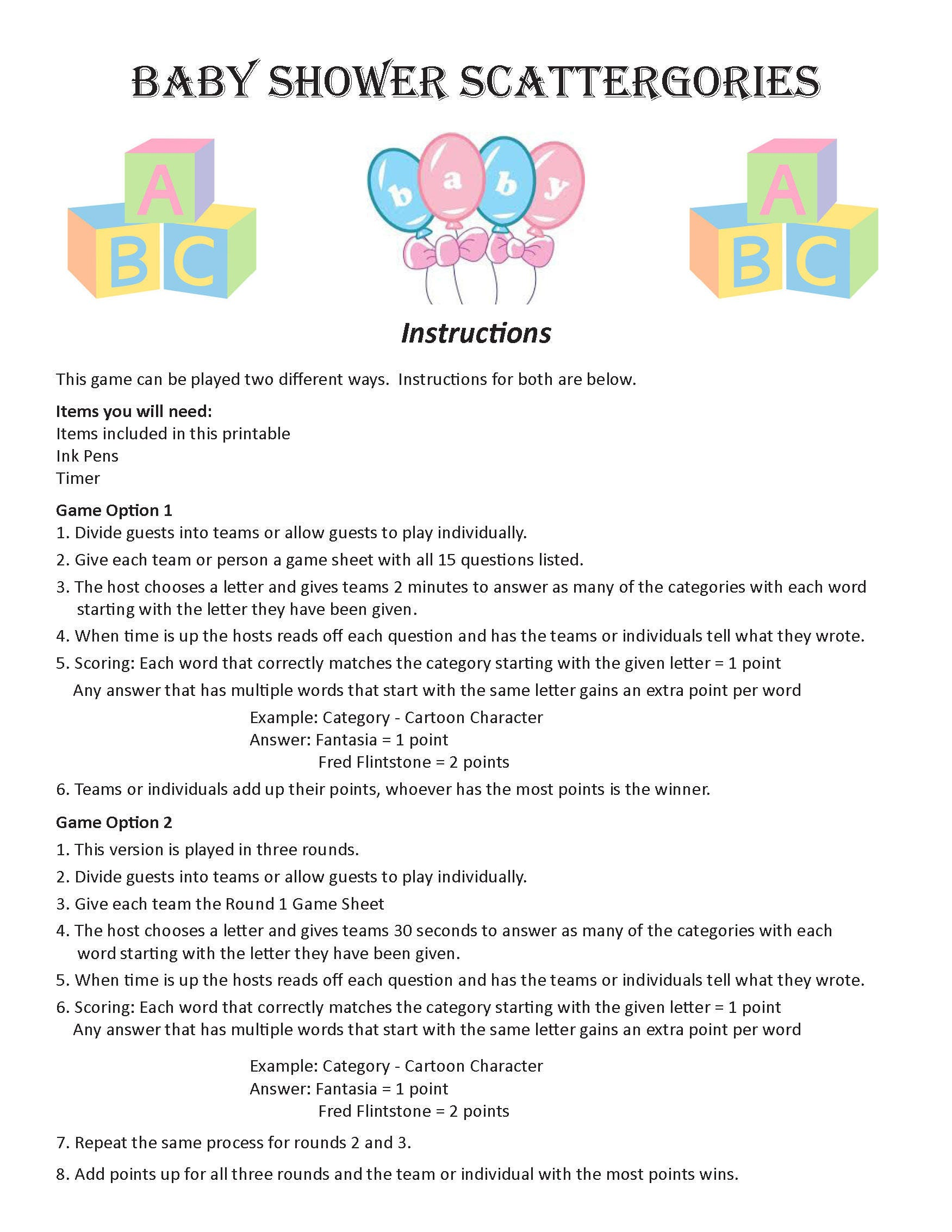 6749d742e5e72 Baby Shower Scattergories DIGITAL DOWNLOAD, Word Game, Baby Shower Game,  Baby Sprinkle Game, New Baby Shower Game, Pregnancy Party Game