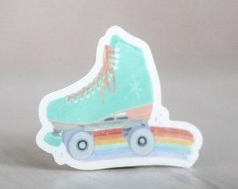 Roller Skate Sticker - Queer Rainbow Magic