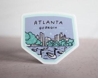 Atlanta Georgia Sticker - Piedmont Park - Moving Away Gift