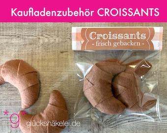 Shop accessories CROISSANTS for children's kitchen/merchant shop/accessories for shop