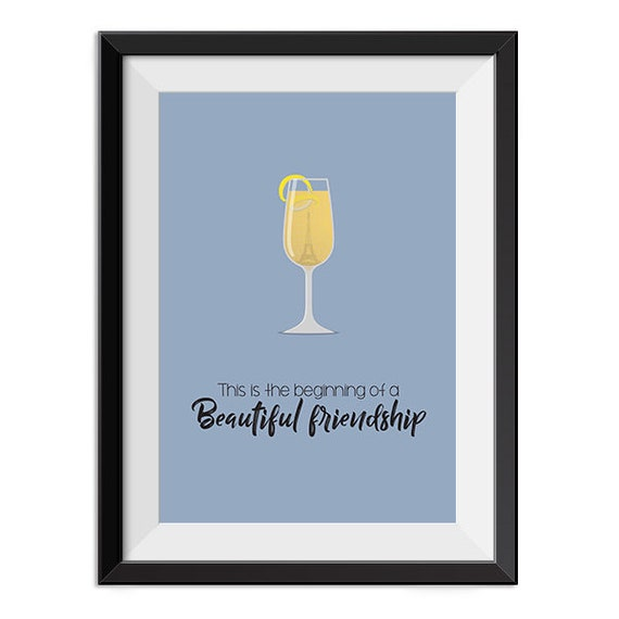 Casablanca This Is The Beginning Of A Beautiful Friendship Etsy