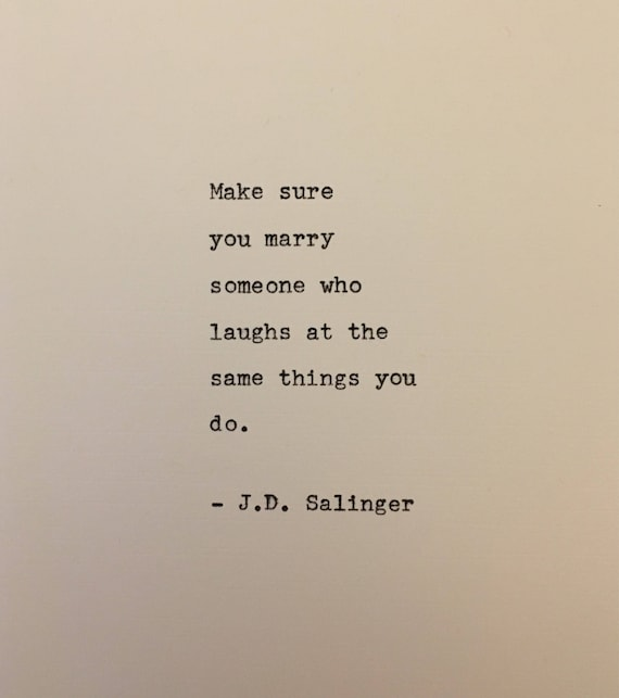 j d salinger catcher in the rye quote typed on typewriter