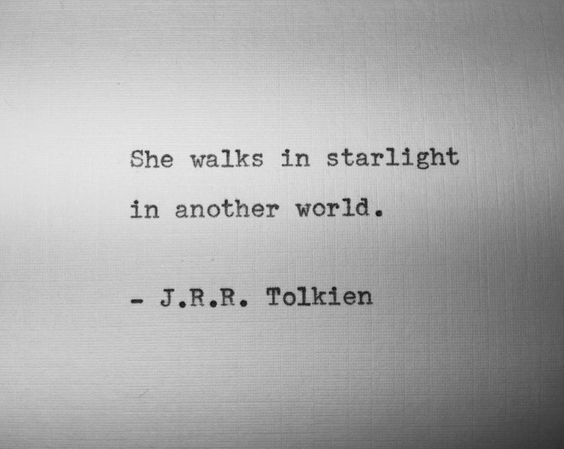 JRR Tolkien quote typed on typewriter  unique gift  image 0