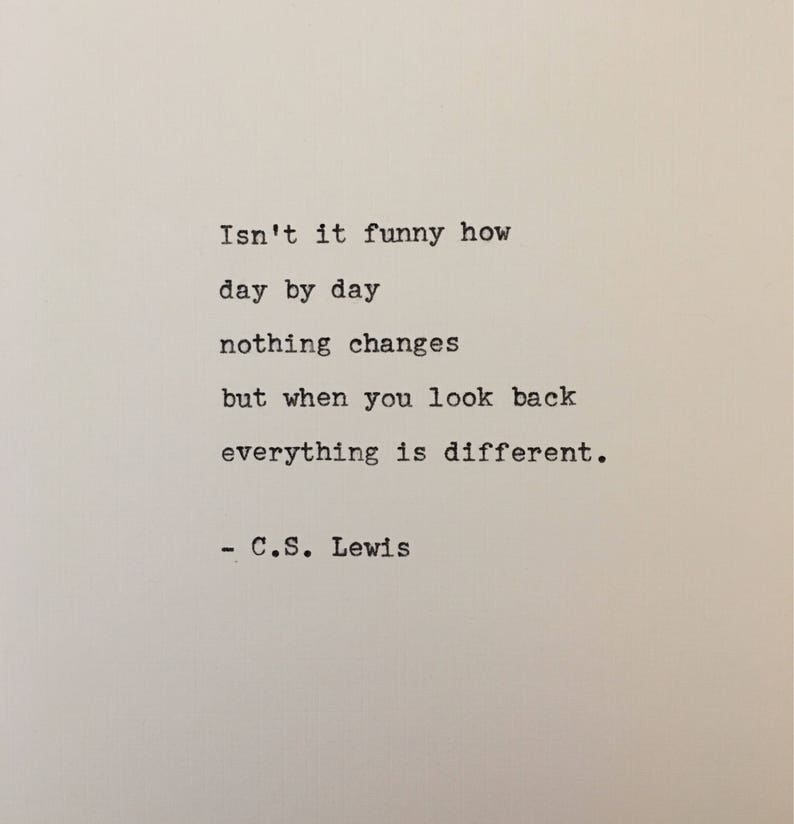 C.S. Lewis quote typed on typewriter  unique gift image 0