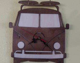 VW Bus Clock Collectable Volkswagen Man Cave Gift Bug Beetle Ghia V-Dub Gift