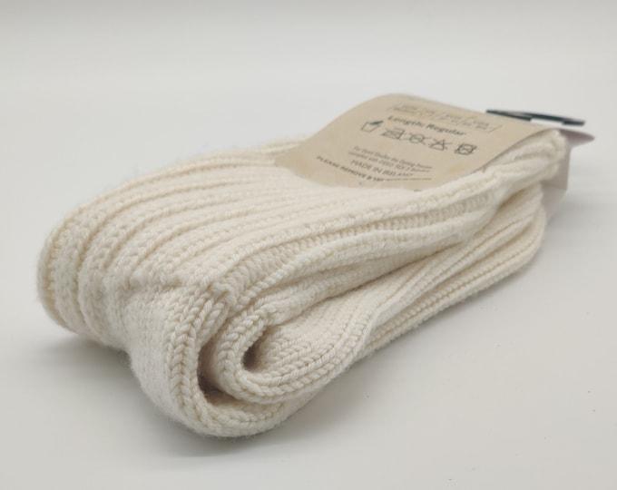 Merino thick wool socks - Snug socks in 100% Pure New Merino Wool - hiking socks - cream - MADE IN IRELAND