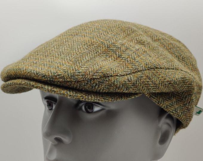 Traditional Irish tweed flat cap - green tartan - plaid - check - 100% wool -padded - HANDMADE IN IRELAND