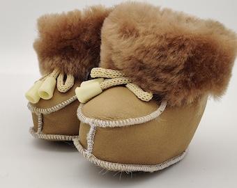 Baby booties - 100% sheepskin - super cute and adorable - unisex - HANDMADE IN IRELAND