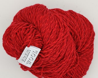 200g/75oz of Authentic Aran Knitting Wool - salmon pink - 333.75m/365yards - 100% pure new wool - MADE IN IRELAND