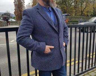 Mens Irish tweed jacket/blazer - 100% pure new wool - made to order - HANDMADE IN IRELAND