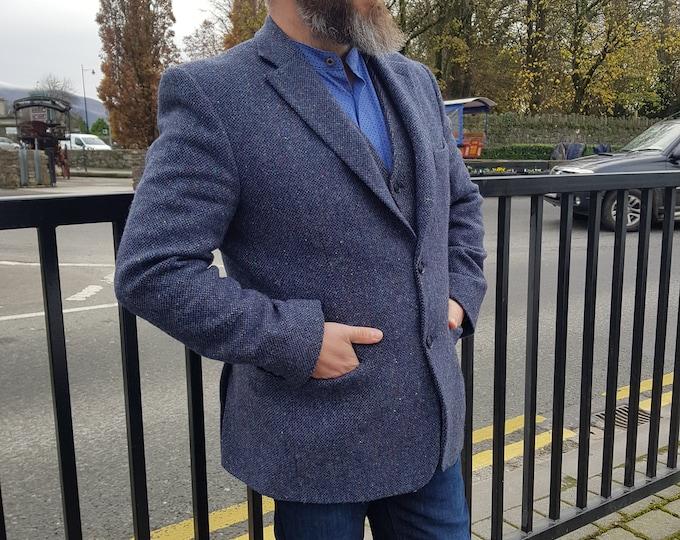 Mens Irish tweed jacket/blazer - 100% pure new wool - made to order - HANDMADE IN IRELAND
