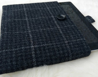 Irish tweed 9 inch + tablet cover - FREE WORLDWIDE SHIPPING - ipad - sleeve - 100 % wool - Handmade in Ireland - ready for shipping