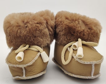 Baby booties, shoes - 100% sheepskin - cute and adorable - unisex - HANDMADE IN IRELAND