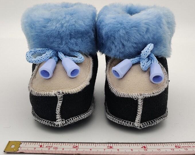 Baby booties - 100% real sheepskin - cute & adorable - HANDMADE IN IRELAND