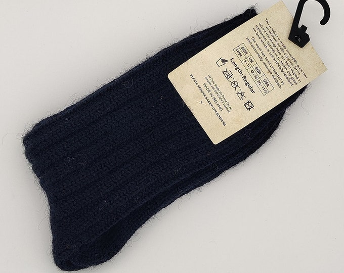 Irish thick wool socks - Snug socks in 100% pure new wool from Irish sheep - hiking socks - navy - MADE IN IRELAND