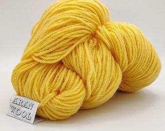 Authentic Aran Knitting Wool - banana yellow - 200g/365yards - 100% pure new wool - MADE IN IRELAND