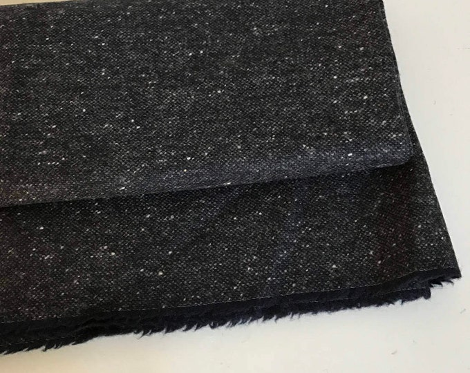 Irish tweed 100%wool fabric - salt&pepper  - charcoal/grey - - 15ozs, 450gms - price per metre - ready for shipping - Made in Ireland