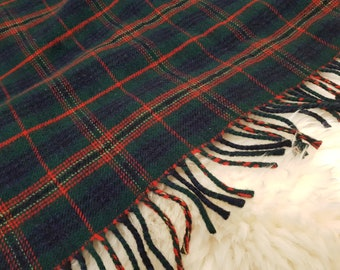 Kennedy clan tartan / plaid check blanket / sofa throw - 50/50 merino wool / soft lambswool - really warm and super soft - MADE IN IRELAND