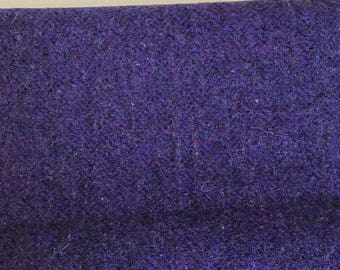 Irish tweed wool fabric-FREE WORLDWIDE SHIPPING-purple herringbone-100% wool-15ozs,450gms-price per metre-ready for shipping-Made in Ireland