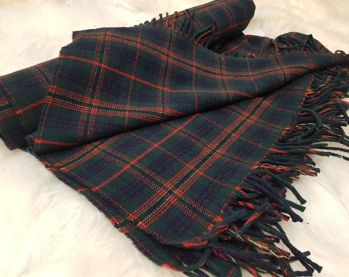 Irish tartan / plaid check -  blanket / sofa throw - 50/50 merino wool / soft lambswool - really warm and super soft - MADE IN IRELAND