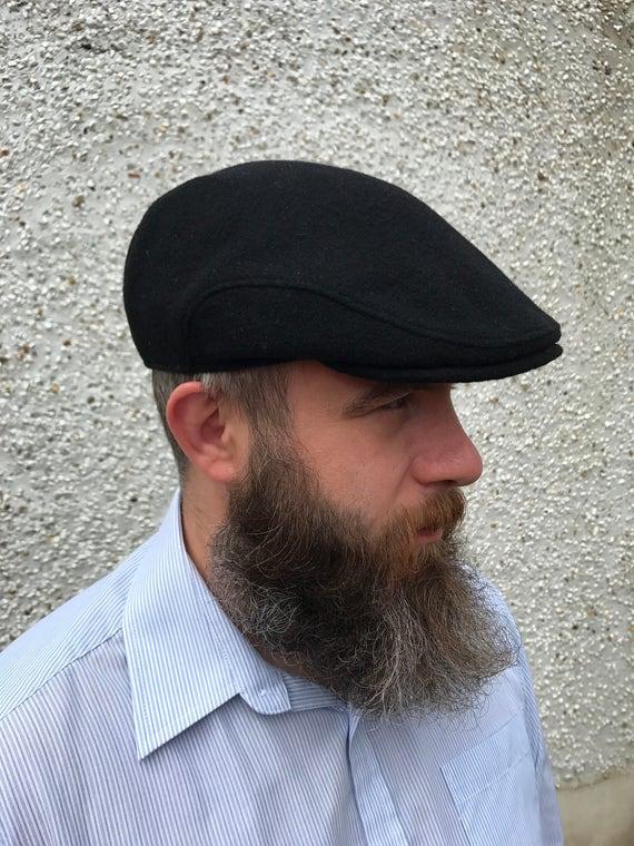 Traditional Irish Flat cap-FREE WORLDWIDE SHIPPING-black  188a9591706