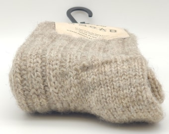 Irish organic thick wool socks - Snug socks in 100% pure new organic wool from Irish sheep - hiking socks - undyed - MADE IN IRELAND