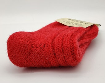 Irish thick wool socks - Snug socks in 100% pure new wool from Irish sheep - hiking socks - red - MADE IN IRELAND