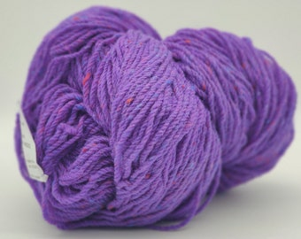 Authentic Aran Knitting Wool - violet purple - 200g/365yards - 100% pure new wool - MADE IN IRELAND