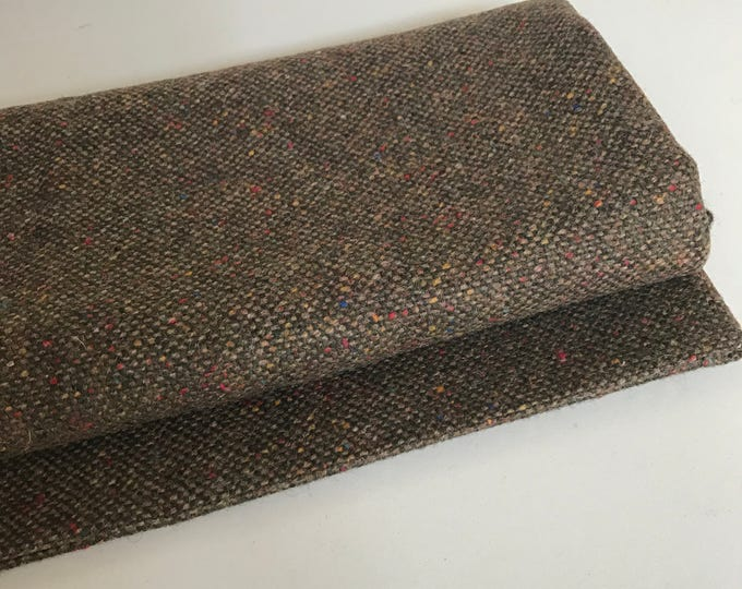 Irish tweed 100% wool fabric-FREE WORLDWIDE SHIPPING-forest green melange-15ozs, 450gms-price per metre-ready for shipping - Made in Ireland