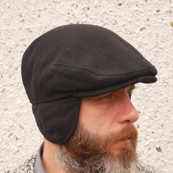 Traditional Irish tweed flat cap with optional foldable ear flaps  c914fb048c2
