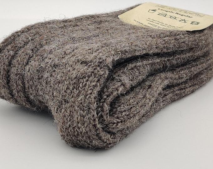 Irish thick wool socks - Snug socks in 100% pure new wool from Irish sheep - hiking socks - undyed  - MADE IN IRELAND