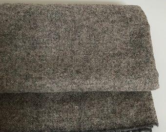 Irish tweed fabric- FREE WORLDWIDE SHIPPING -beige/grey/brown melange-100%wool-15ozs,450gms-price per metre-ready 4 shipping-Made in Ireland
