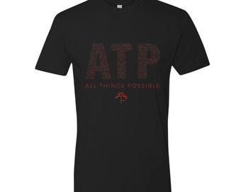All Things Possible Motivational Short Sleeve Men's/Unisex T-Shirt (XS-XXL)