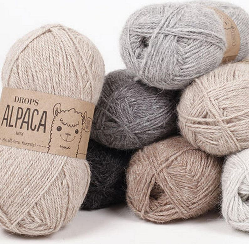 alpaca yarn DROPS Alpaca An all time favorite made purely from soft alpaca  50 g = approx 167 m 5 ply Drops Retailer