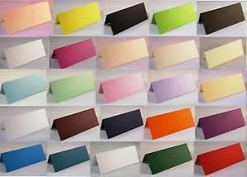 Table Placecards Choose Colour From Dropbox Blanks Ideal for Weddings /& Parties