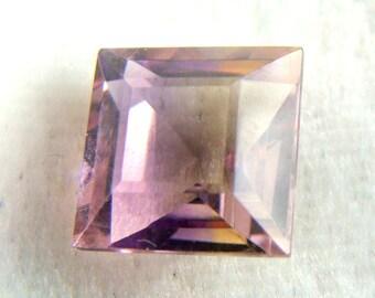 Bi-Color Ametrine 8mm Square Cut All Natural Old Stock