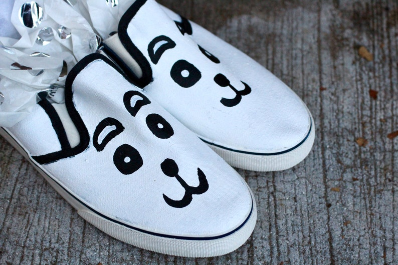 8508d790a0ceda Panda Hand Painted Custom Canvas Shoes   Gifts for Her