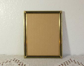 b51d1c14d958 Vintage Gold Metal 8 x 10 Black Velvet Picture Frame Rustic Fall Wedding  Decoration Mid Century Hollywood Regency Home Decor Photo Gift Him