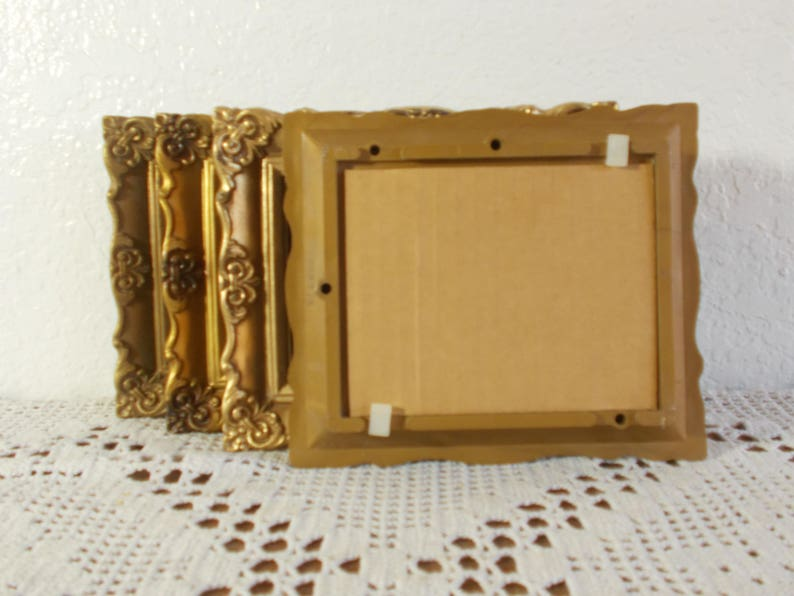 Vintage Ornate Gold Baroque Picture Frame 4 x 5 Photo Decoration Mid Century Hollywood Regency Retro Bungalow Shabby Chic Cottage Home Decor