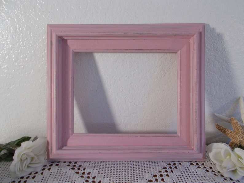 Shabby Chic Country Romantic Frame.Pink Shabby Chic Picture Frame 8 X 10 Photo Decoration Up Cycled Vintage Wood Romantic Cottage French Country Baby Girl Nursery Home Decor