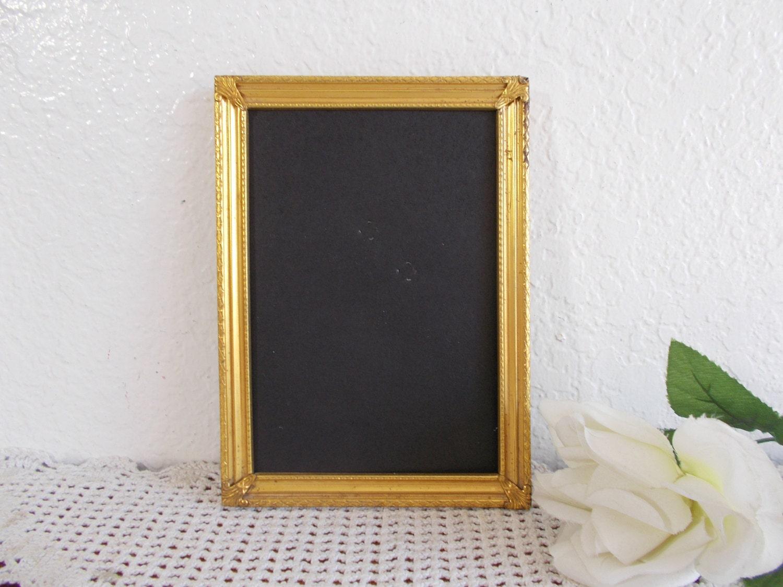Vintage adornado oro Metal 5 x 7 del cuadro marco foto rústico
