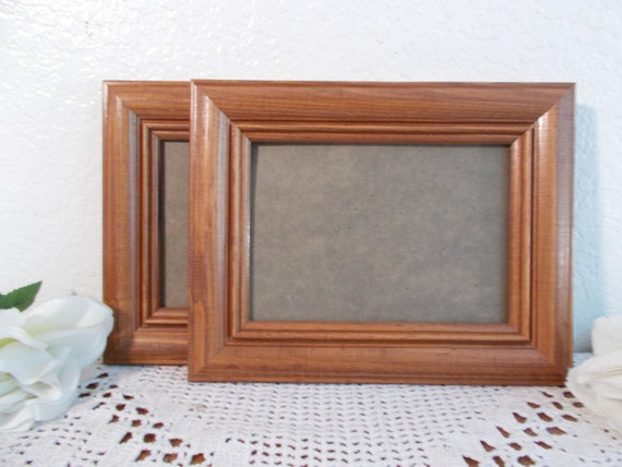 Vintage 8 x 10 Wood Frame Picture Photo Rustic Cottage Country Western Eco Friendly Farmhouse Natural Man Cave Home Decor Wedding Decoration