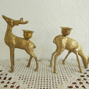 Vintage Gold Brass Pineapple Taper Candle Holder Set Fall Autumn Mantle Window Table Decoration Mid Century Retro  Home Decor