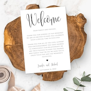 Welcome letter Template Kit Watercolor Instant Download GD/_WT110 Beach Wedding Welcome Bag Note Destination Wedding Welcome
