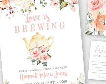 35009298c84a Love is Brewing Bridal Invitation Template