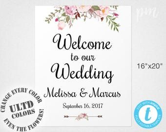Instant Download Wedding Shower Welcome Sign Template Etsy