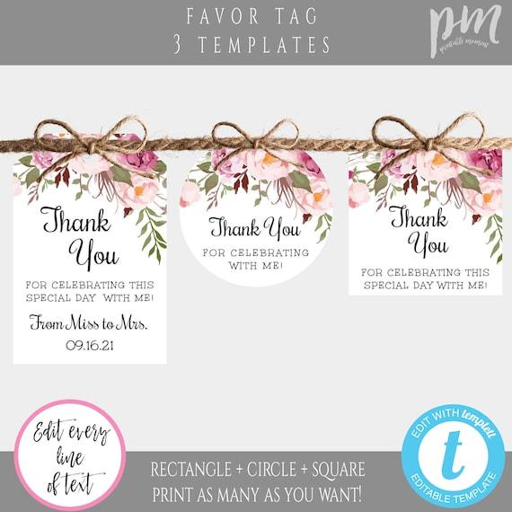 label Modern Favor Tag Label Mockup,Thank You Label,Bridal Shower Mockup Bridal Shower Label,Wedding or Bridal Shower Thank You Label