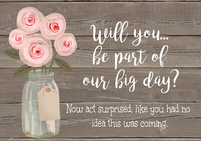 Editable Bridesmaid Proposal Cards Be My Bridesmaid Card Rustic Floral Bridesmaid Proposal Card Template Pink Floral Printable