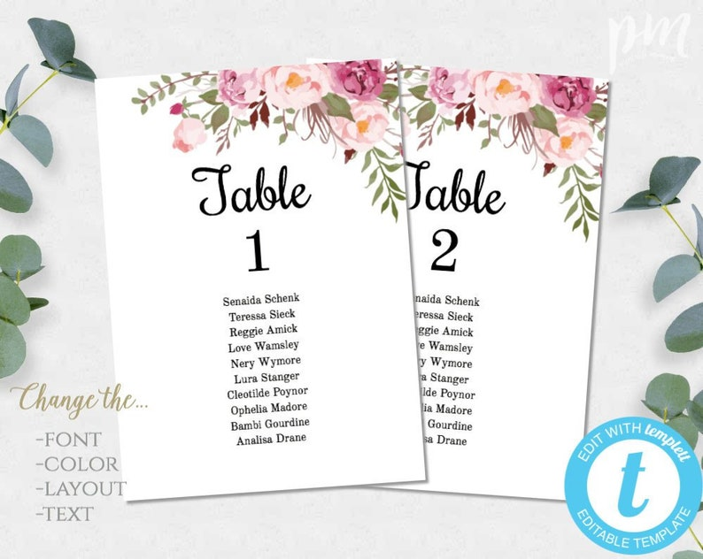 picture relating to Free Printable Wedding Table Number Templates referred to as Crimson Floral Marriage Desk Quantities Template, Printable Desk Quantity Playing cards, Instantaneous Down load, Editable Desk Quantities, House Surroundings Playing cards WBBH